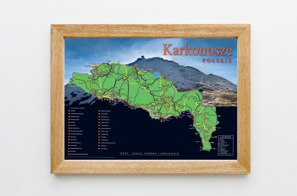 mapa zdrapka karkonoszy